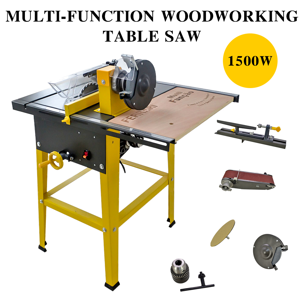 details about 31''×24'' multi-function woodworking bench table saw metal  wood cutting machine