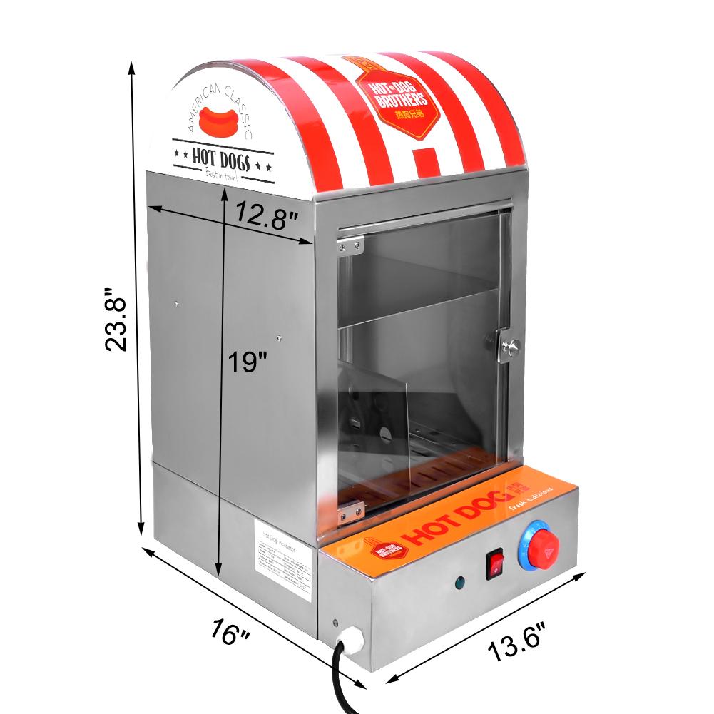 hot dog steamer 220v 1500w dampfgarer hot dog ger t hot. Black Bedroom Furniture Sets. Home Design Ideas