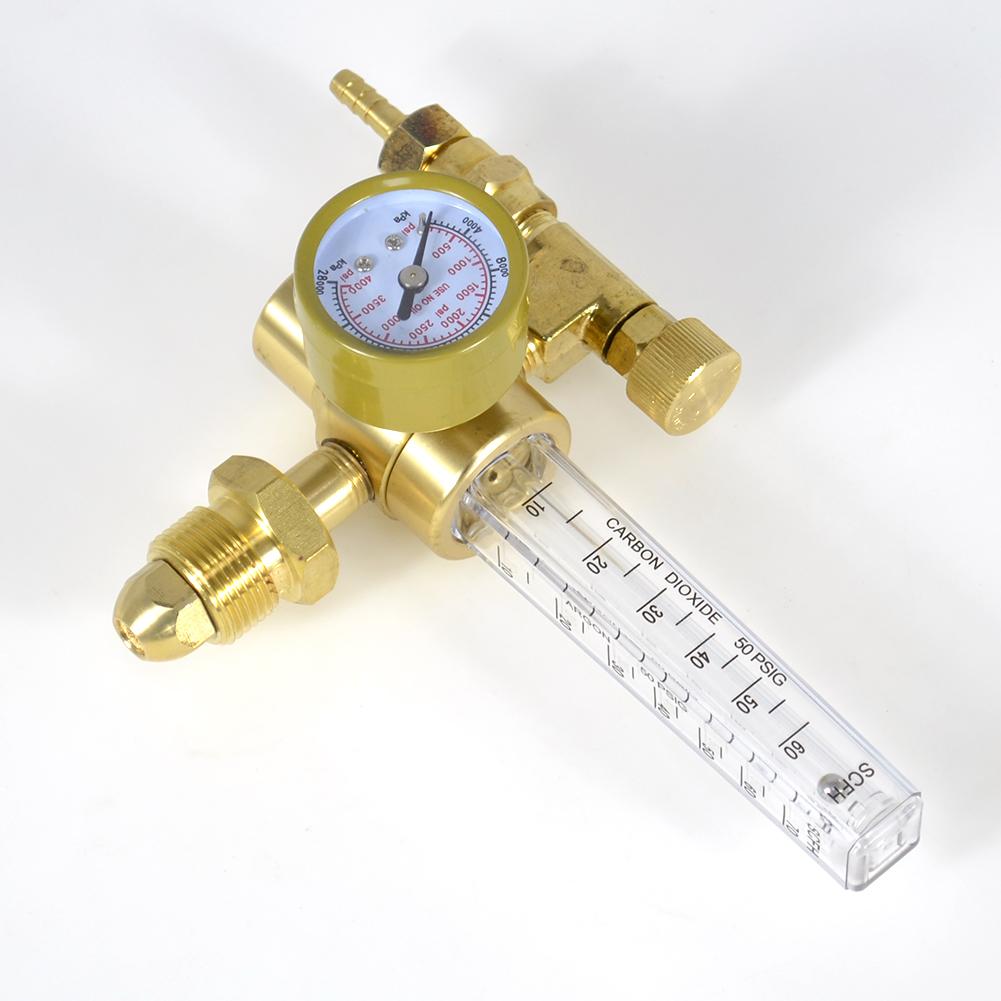 Mig Tig Flow meter Regulator Welding Flow Meter Gauge Argon//CO2 Helium Nitrogen