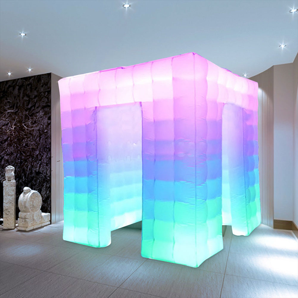 Details About 2 5m 110v Door Inflatable Photo Booth Led Light Party Birthday Wedding Tent