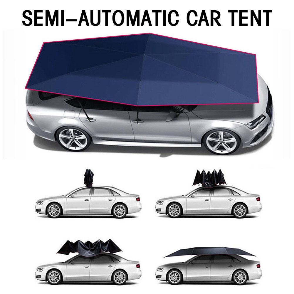 neu halbautomatischer auto regenschirm dachzelt abdeckung. Black Bedroom Furniture Sets. Home Design Ideas