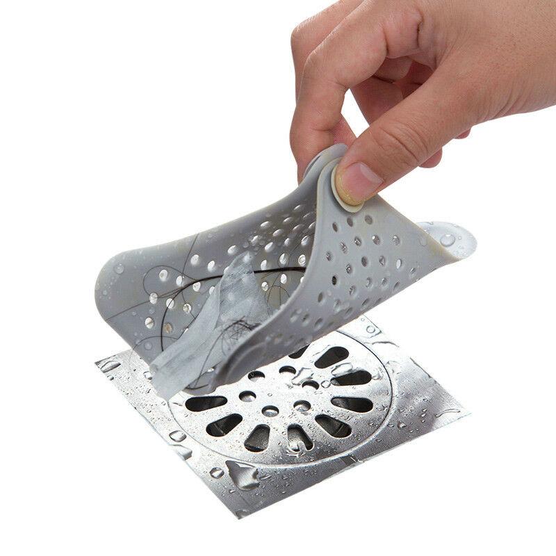 2 Pcs Star Silicone Bath Kitchen Waste Sink Strainer Hair Filter  Catcher Cover