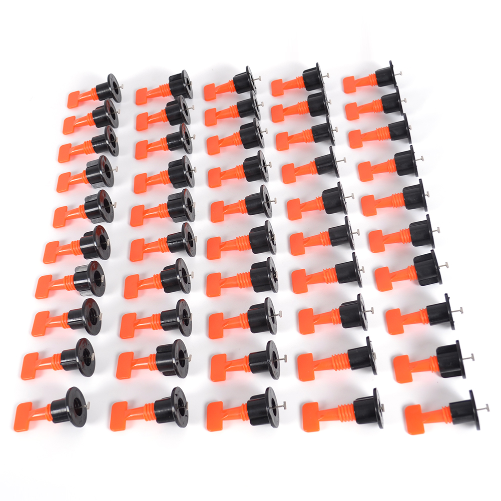 50X Flat Ceramic Floor Wall Construction Tools Reusable Tile Leveling System US